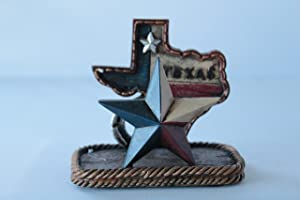 Texas Map Lone Star Business Cards Holder Rustic Home Office Decor