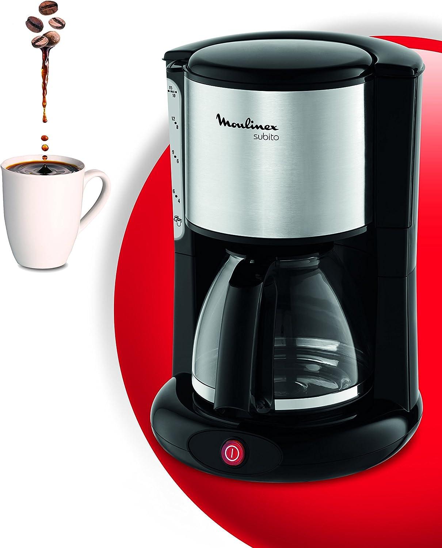 Moulinex Subito Inox - Cafetera, 1000 W, 10-12 tazas, dispositivo ...