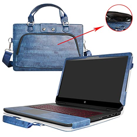 f14f8edfa01 HP OMEN 15 Case,2 in 1 Accurately Designed Protective PU Leather Cover +  Portable