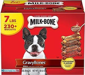 Milk-Bone Gravy Bones Dog Biscuits, 4 Meaty Flavors with 12 Vitamins & Minerals