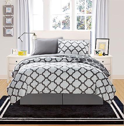 Amazoncom Vcny Grey Galaxy 6 Piece Bed In A Bag Set Twin Twin X