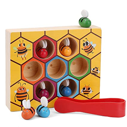Amazon Com Xrexs Toddler Bee Hive Preschool Wooden Toys Bee Toy