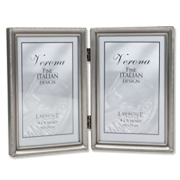 Amazoncom Lawrence Frames Antique Pewter 4x6 Hinged Double