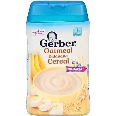 La harina de avena y cereales pl_tano 8 oz (227 g) - Gerber