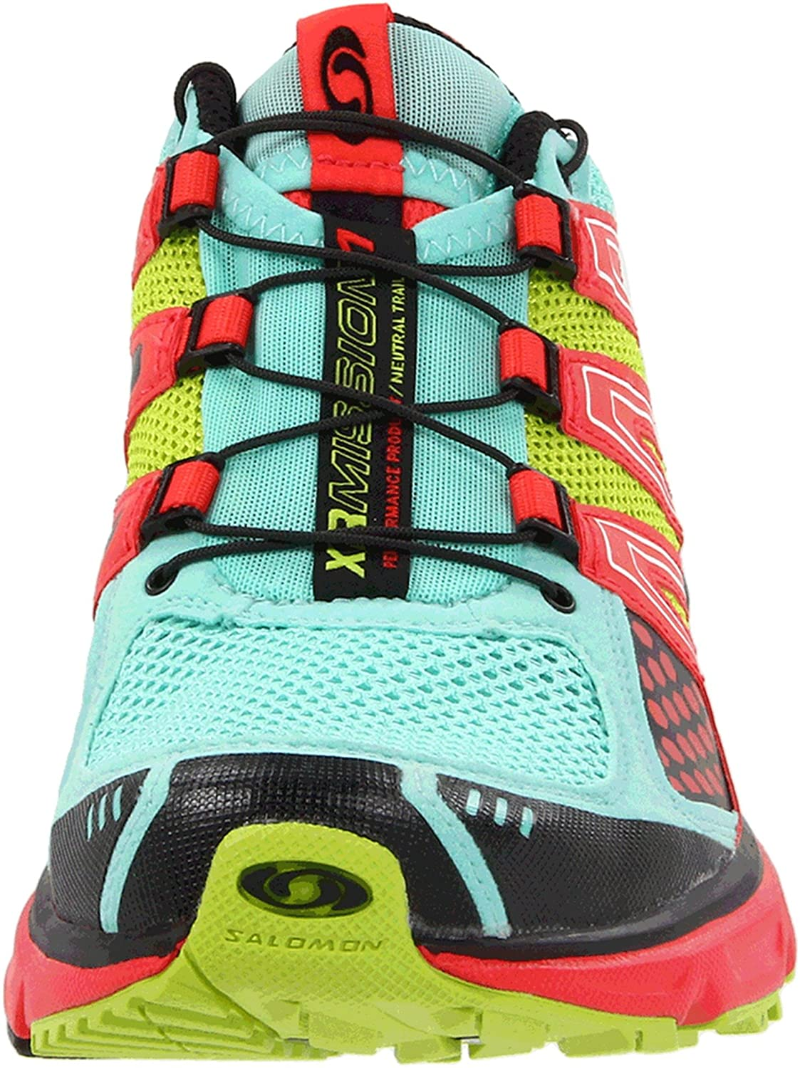 Salomon Women's XR Mission Running Shoe B0054PA2K4 9.5 B(M) US|Celedon/Papaya/Pop Green