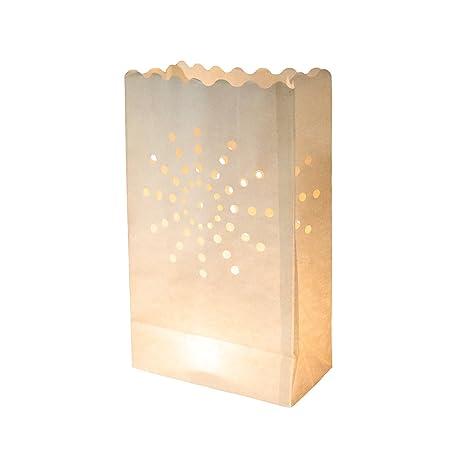 EUTOPICA Pack de 10 Bolsas de luz (luminarias) - Candle Bags - Bolsas para Velas