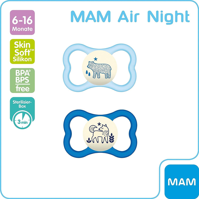 MAM Air Night 6-16 Silicona rosa Rosa.