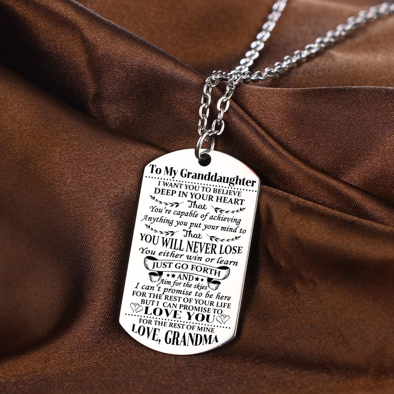 Amazon.com: YEEQIN Collar de nieta con texto en inglés