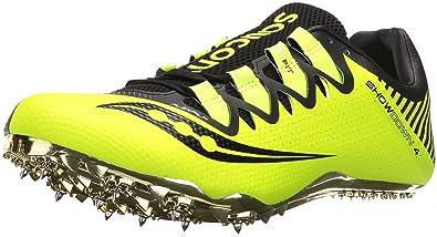 Saucony Men's Showdown 4 Track Shoe, Black/Citron, ...