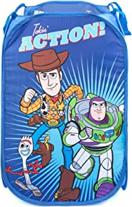 Jay Franco Disney Pixar Toy Story Pop Up Hamper - Mesh Laundry Basket/Bag with Durable Handles - Features Woody, Buzz Lightyear & Forky (Official Disney Product)