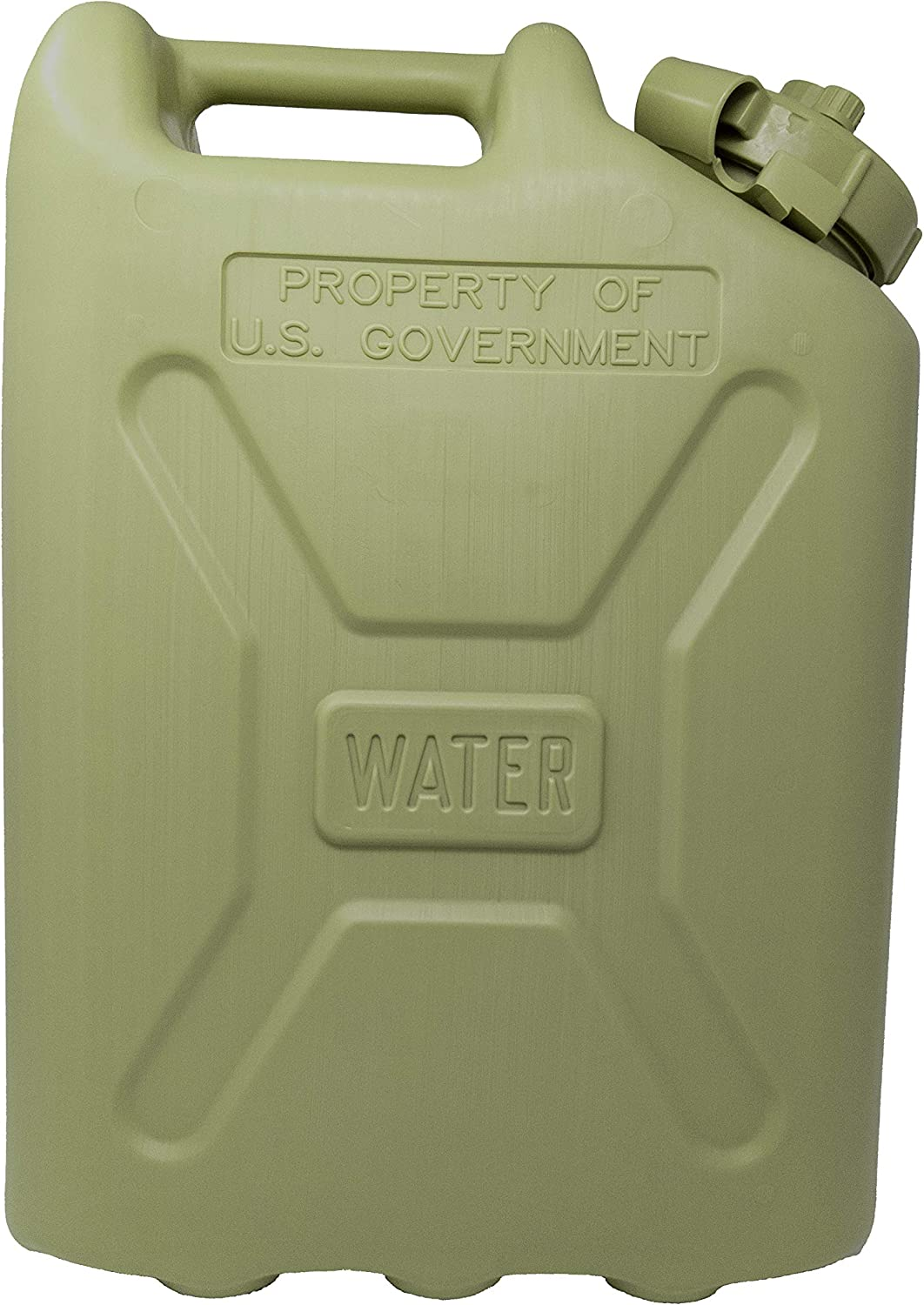 Tacticai 5-Gallon Water Jug Potable Storage Container with Lid, Portable Heavy-Duty Military Grade BPA Free Plastic for Camping, Survival, Emergency, Sports, or Outdoor Use