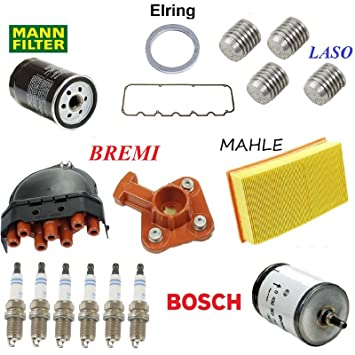 Tune Up Kit Filters Plugs And Oils for BMW 325i E30 1987