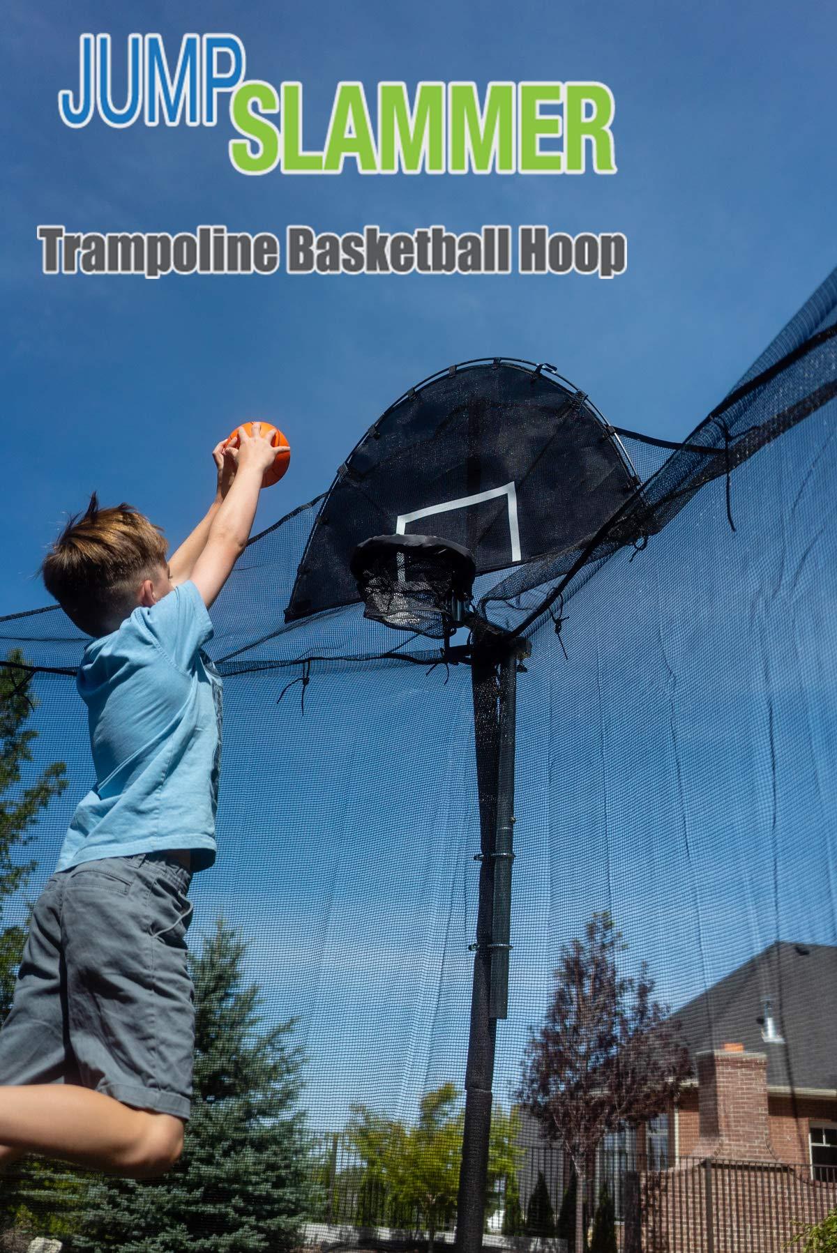 Jump Slammer Trampoline Basketball Hoop | Easy Install | Foam Ball Included | [Lifetime Parts Warranty] by Trampoline Pro