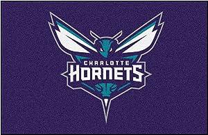 FANMATS NBA Charlotte Hornets Nylon Face Starter Rug