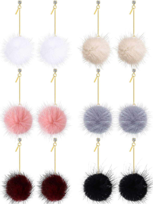 Women Lovely Fluffy Fur Ball Pompom Rings Open Rings Fashion Jewelry Girl Gift