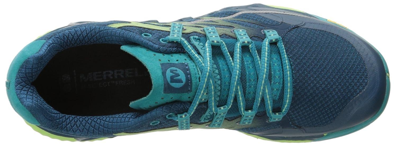 Merrell Women's All Out Peak Trail Running Shoe B00YBE9C3C 8 B(M) US|Light Green