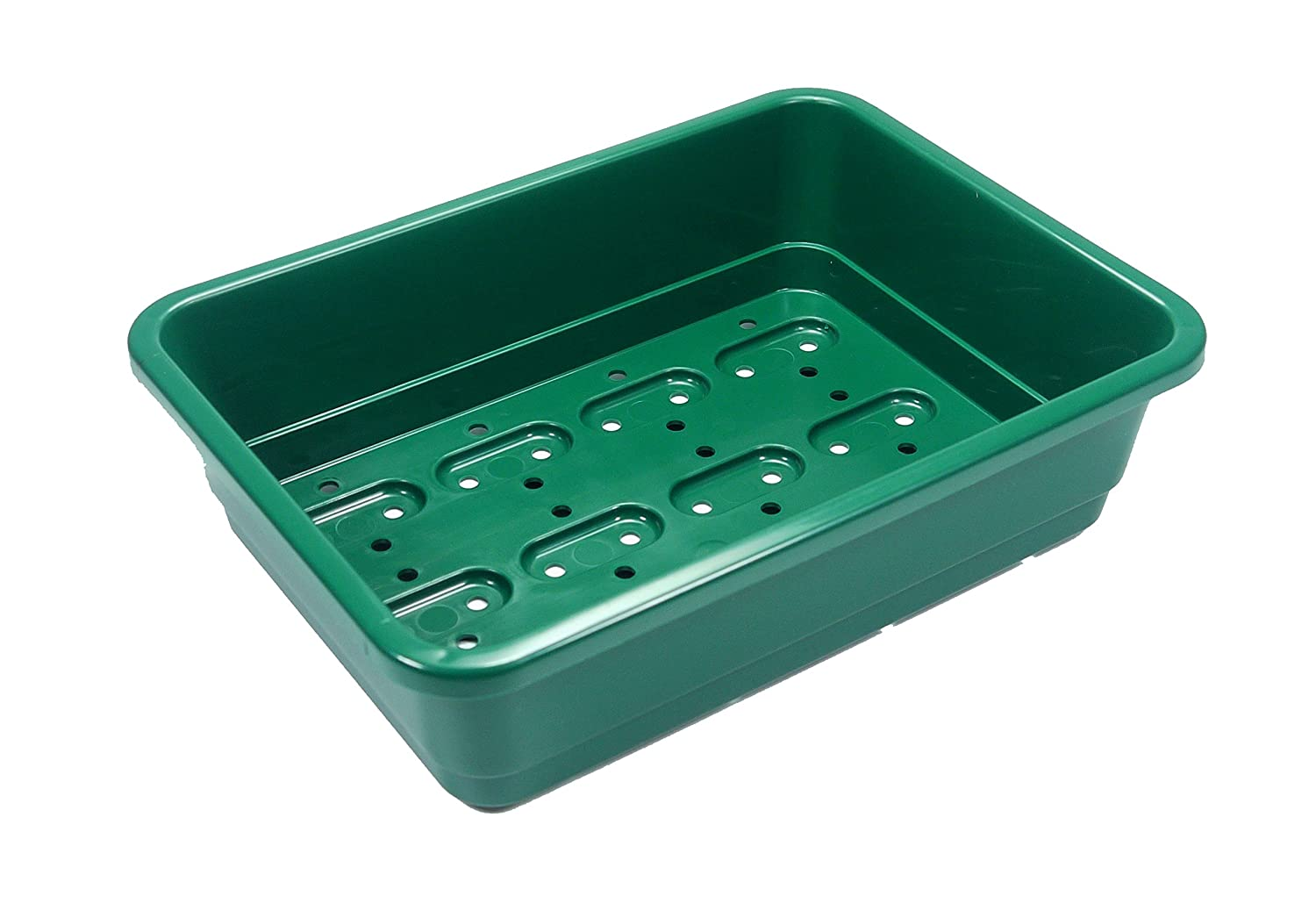 Britten & James Pack of 5 Professional Seed trays. Full size, BLACK heavy duty trays made from extra thick plastic with efficient drainage holes. As used by professional growers and garden centres.