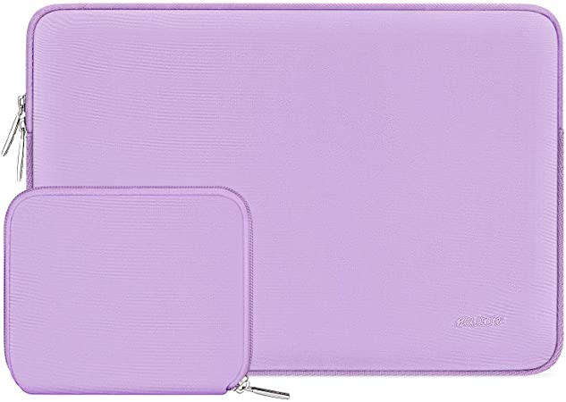 Notebook Computer Water Repellent Neoprene Bag with Small Case MacBook Air MOSISO Laptop Sleeve Compatible with 13-13.3 inch MacBook Pro Light Purple