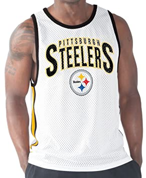 Image Unavailable. Image not available for. Colour  Pittsburgh Steelers NFL  G-III  quot Training Day quot  Men s Mesh White Tank Top 32ace9649