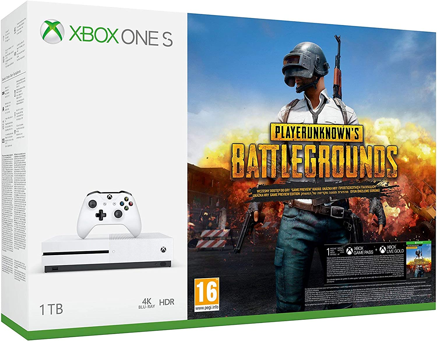 Microsoft Xbox One S - Consola 1 TB + Playerunknowns Battlegrounds + Red Dead Redemption 2 (Xbox One): Amazon.es: Videojuegos