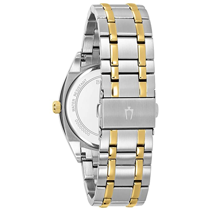 Amazon.com: Bulova Mens Classic Quartz Watch with Stainless-Steel Strap, Two Tone, 22 (Model: 98C127: Watches