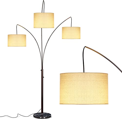 Brightech Trilage Arc Floor Lamp w/ Marble Base