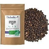Poivre noir de Malabar BIO 100g - grains entiers - sachet biodégradable