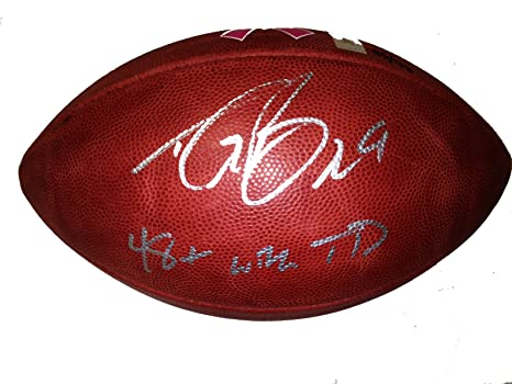 e47d6a5fbba Drew Brees Autographed Breast Cancer Awareness NFL Football Record Breaking  Limited Edition 48 TD's Unitas