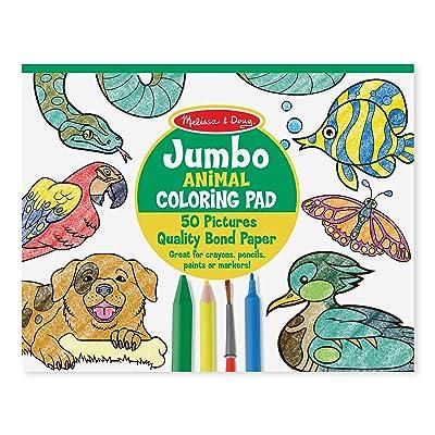 Melissa & Doug Jumbo Coloring Pad - Animals: Melissa & Doug: Toys & Games