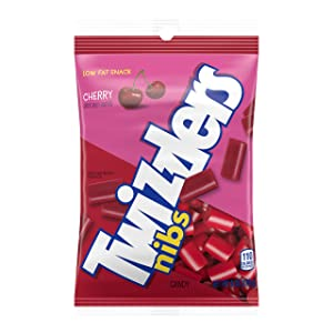 TWIZZLERS NIBS Cherry Licorice Candy, 6 Ounce, Bag, 12 Count