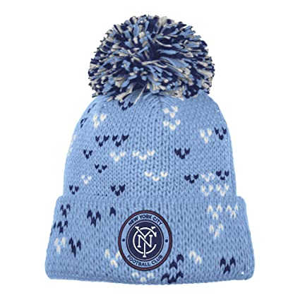eacd0d9fb51 Image Unavailable. Image not available for. Color  adidas MLS New York City  FC Women s Fan Wear Cuffed Pom Knit Beanie ...