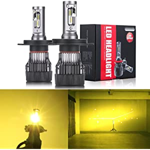 Alla Lighting S-HCR 2018 Newest Version H4 LED Headlight Bulbs High Power 10000Lm All