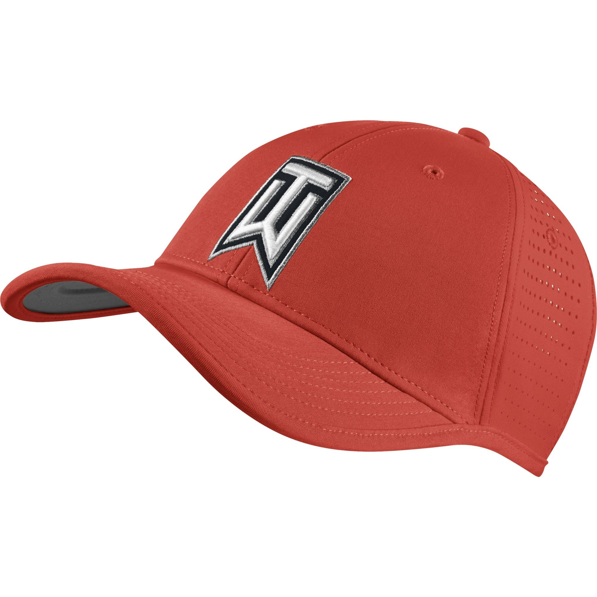 NIKE Golf CLOSEOUT TW Ultralight Tour Adjustable Hat- Assorted Colors 726291 (Light Crimson/Black)