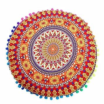 Funda Cojines, Xinan Indian Mandala Floor Pillows, Cojín ...