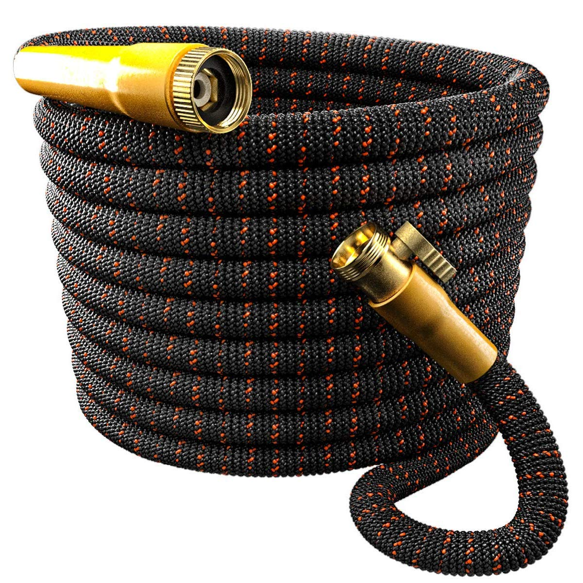 TBI Pro [Upgraded 2019] Garden Hose Expandable & Flexible - Superior 3750D Fabric   4-Layers Flex Latex   Extra-Strong Brass Connectors with Pocket Protectors (50FT Hose Only)