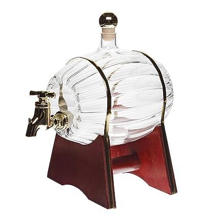 slkfactory Barril para Vino/Whisky/Cerveza con Tapón, Soporte y Grifo, de