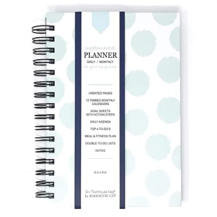 amazon com kahootie co undated daily planner for busy days keep