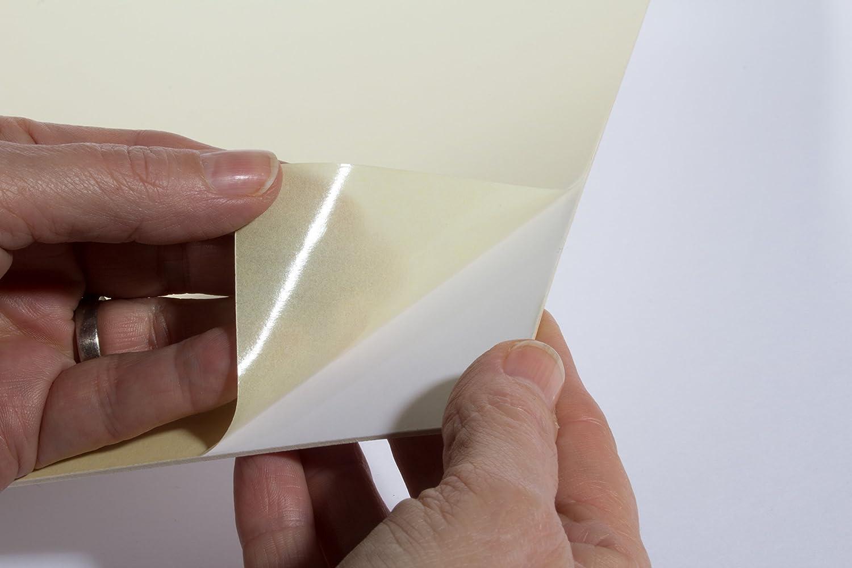 R/ückw/ände selbstklebend Kaschierkarton 59,4x84,1cm Puzzlekarton Klebekarton Karton mit einseitig Selbstklebender Oberfl/äche - 1,5mm stark DIN A1