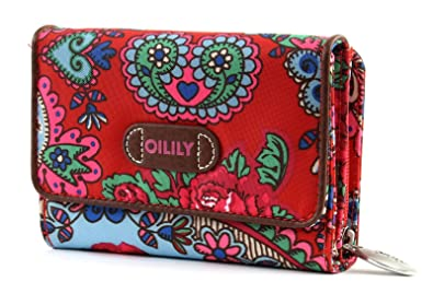 Oilily S Wallet Monedero Billetera Geldbeutel Travel Rojo Red: Amazon.es: Zapatos y complementos