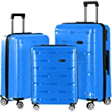 Nasher Miles Santorini PP Hard-Sided Luggage Set of 3 Trolley/Travel/Tourist Bags (55, 65 & 73.5 cm) Sapphire Blue