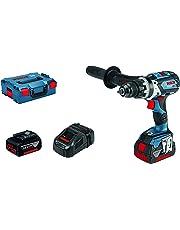 Bosch Professional Akku-Bohrhammer GSB 18 V-85 C (2 x 5.0Ah Batterien, 18V, Robust, in L-BOXX)