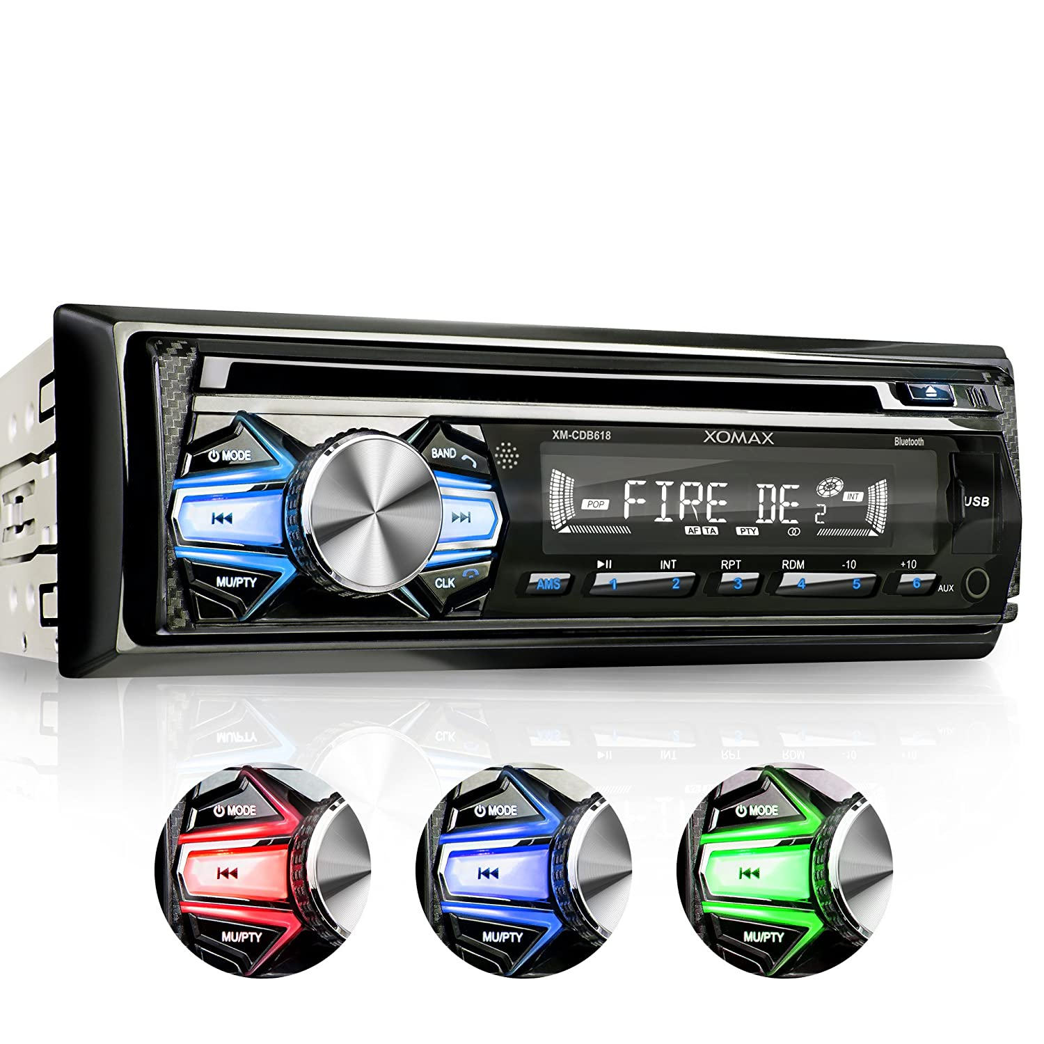 XOMAX XM-CDB618 Autoradio mit CD-Player + Bluetooth ...
