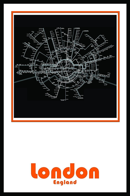 London England Subway Map.Amazon Com London England Subway Map Wall Art Decor By Urban Map