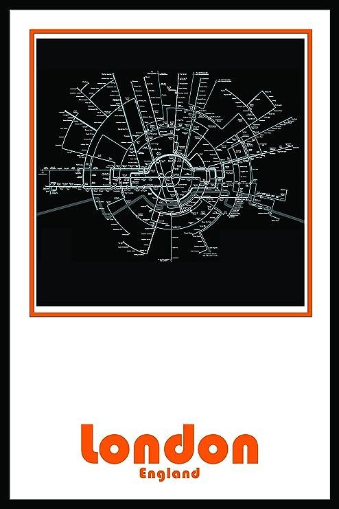 Amazon Com London England Subway Map Wall Art Decor By Urban Map