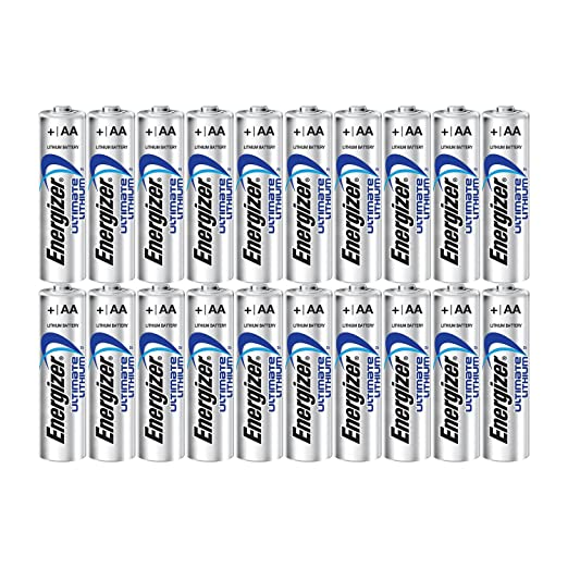 Energizer Ultimate Lithium AA Size Batteries - 20 Pack at amazon