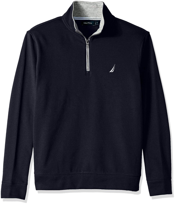 Navy XLarge Nautica Mens Solid 1 4 Zip Fleece Sweatshirt Sweatshirt