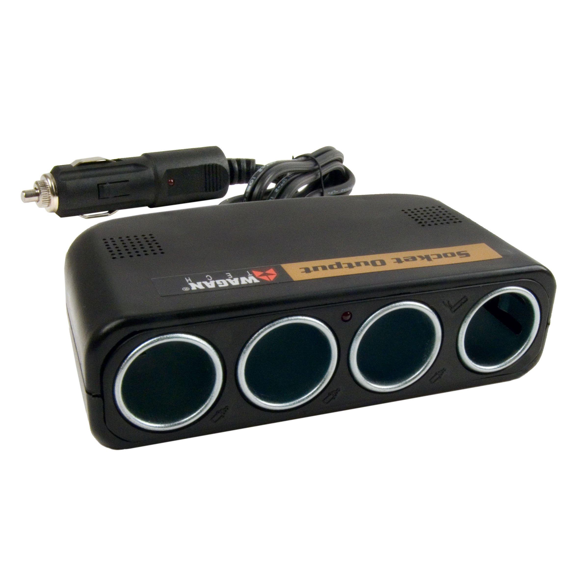 Amazon.com: Wagan 4-Way 12V Automotive Socket Splitter and Extender ...