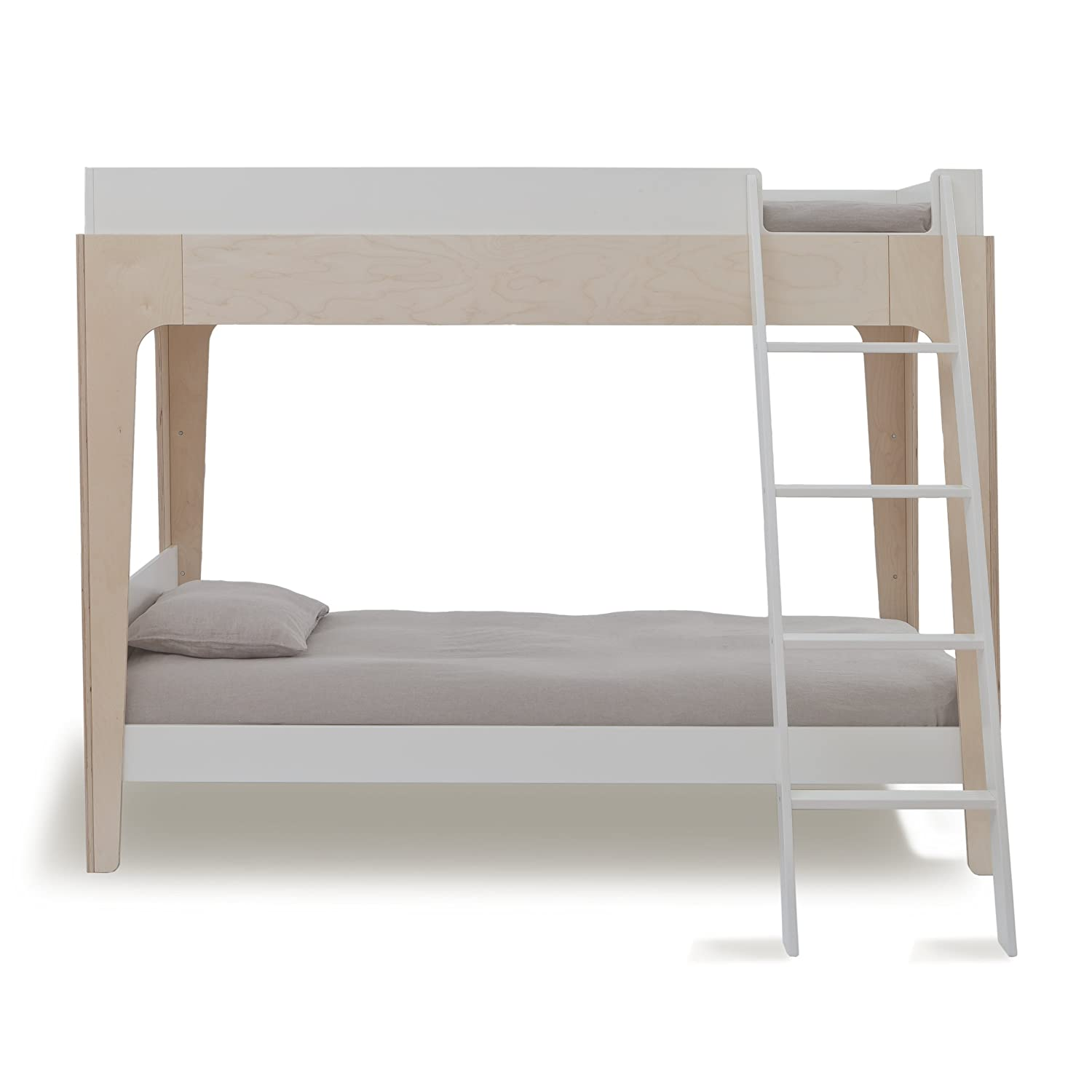 amazoncom oeuf perch bunk bed  birchwhite kitchen  dining -