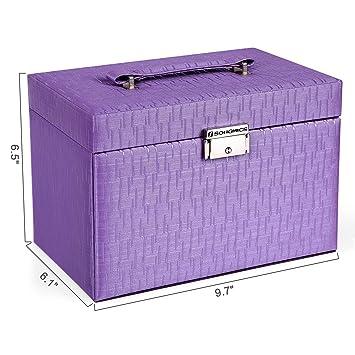Amazon.com: SONGMICS UJBC133 caja tipo joyero para niñ ...