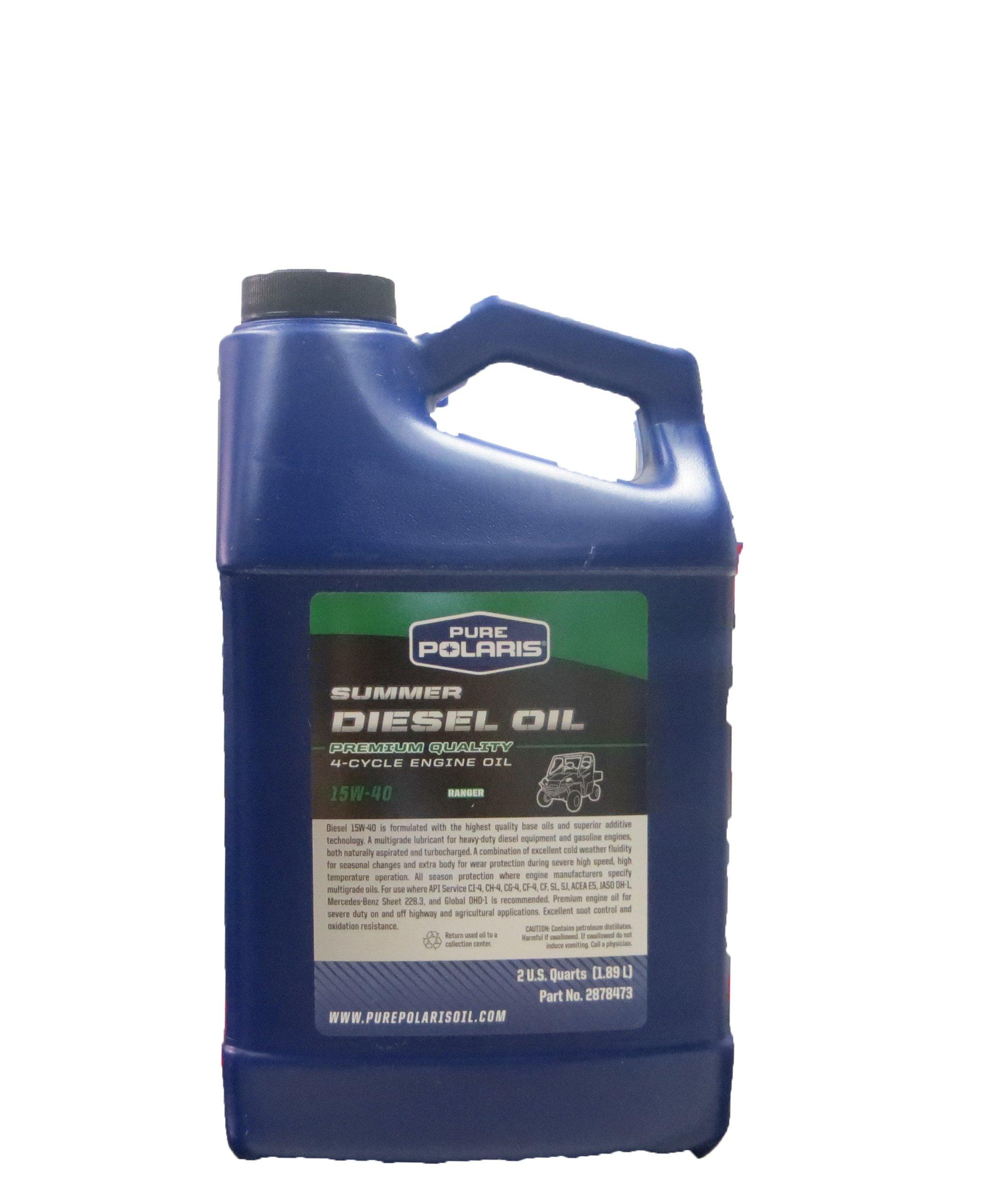 Polaris Diesel Oil, 2 Quart Bottle